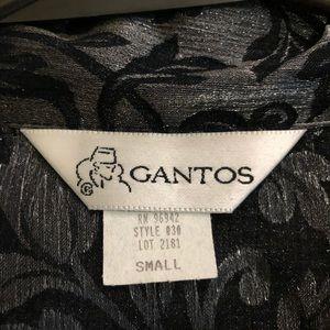 Gantos Tops - Gantos Black and silver floral print blouse